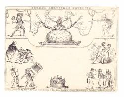 GB 1840 DERADEMAEKER Mulready Karikatur #10 Fores´s Christmas Envelope Ungebraucht - 1840 Mulready-Umschläge