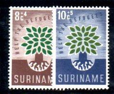 XP54 - SURINAME , La Serie 332/333   ***  MNH Rifugiato Refugee - Suriname