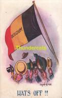 CPA ILLUSTRATEUR DONALD MC GILL  BELGIQUE  ** ARTIST SIGNED HATS OF BELGIUM DONALD MC GILL - Mc Gill, Donald