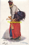 CPA ILLUSTRATEUR EGYPTE LANCE THACKERAY PEOPLE OF EGYPT ARTIST SIGNED SYRUP SELLER SHARBATLI - Autres