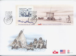 GREENLAND 2005 Peary Expedition Block On FDC.  Michel  Block 32 - FDC