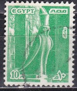 Egitto, 1979 - 10m Statue Of Horus - Nr.1058a Usato° - Egypt