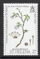 Mellissia Begoniifolia (Saint Helena Boxwood) Stamp Mnh - Végétaux