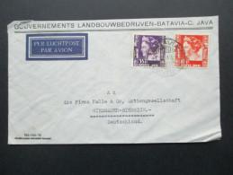 Niederl. Indien 1939 Luftpost. Strafgevangenis Soekamiskin Bandoeng /Gefangenenlager. Gouverments Landbouwbedrijven.Java - Nederlands-Indië