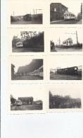 Onze Photos De Tram  7 X 10 Cm  (Waterloo - Braine L'Alleud) Et Négatifs - Transport