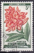 Costa D'Avorio, 1961/62 - 5f  Plumeria Rubra - Nr.183 Usato° - Costa D'Avorio (1960-...)