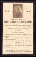 1924 Pagela Memoria Com Foto Verdadeira De ALBERTO Da SILVA BRITO, Filho VISCONDE Da ERMIDA. Faleceu Em NEW YORK 29 Anos