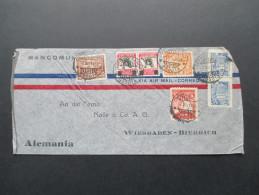 Kolumbien 1939 Luftpostbeleg Air Mail Nach Wiesbaden. Buntfrankatur! Apartado Aereo 34-33 Bogota - Kolumbien