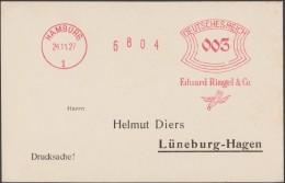 Allemagne 1927. EMA Francotyp. Hamburg. Eduard Ringel. Oiseau Et Alliance Ou Bague - Moineaux