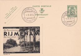 PUBLIBEL N° 307 -  RIJMENAM -SAPINIERES -  FR/NL-   OBLITERE  BEAU CACHET DU SALON DE LA T.S.F. - Entiers Postaux