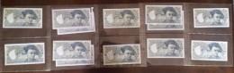 Belle Collection De 13 Billets De 50 Francs Quentin De La Tour Dont C.1 De 1976 - 1962-1997 ''Francs''