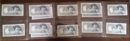 Belle Collection De 13 Billets De 50 Francs Quentin De La Tour Dont C.1 De 1976 - 50 F 1976-1992 ''Quentin De La Tour''