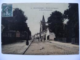 CPA 80 Montdidier - La Rue Parmentier Et Le Square - Vue D'ensemble Avec Animation  A Voir ! - Montdidier