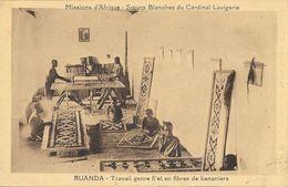 Missions D'Afrique - Soeurs Blanches Du Cardinal Lavigerie - Ruanda: Travail Genre Filets En Fibres De Bananiers - Missions