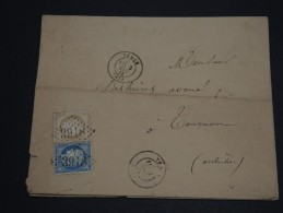 FRANCE - Enveloppe De Tence En 1875 - Affranchissement Bicolore Au Type Cérès - A Voir - L 87 - Storia Postale
