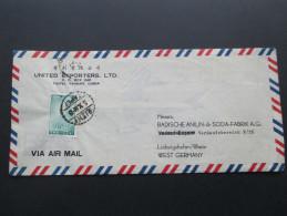 China Taiwan 1960er Jahre Luftpost / Air Mail. United Exporters, LTD. Taipei, China. Badische Anilin & Soda Fabrik - 1945-... Republik China