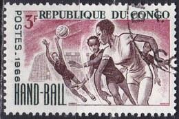 Congo, 1966 - 3f Women's Field Ball - Nr.145 Usato° - Congo - Brazzaville