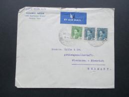 Irak / Iraq 1938 Luftpost / Air Mail. Gourgi Meer Mustansir Street Bagdad Nach Wiesbaden. - Irak
