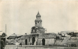 CARTAGENA COLOMBIA  PUBLIC CLOCK AND PRINCIPAL ENTRANCE TO THE CITY  EDITION  MOGOLLON - Colombie