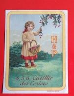 Huntley Palmers Jolie Chromo Rondes Enfantines Chansons Françaises Cueillir Des Cerises Petite Fille Cerisier - Non Classés