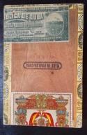1912 Ancienne Boite De Cigare Cubain Havana El Rico Timbre Fiscal Colonie Française Regie Tabac Maroc - Cigares - Accessoires
