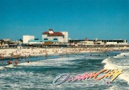 The Flanders Hotel, Beach, Ocean City, Maryland - Scenic Designs 76002 Unused - Ocean City
