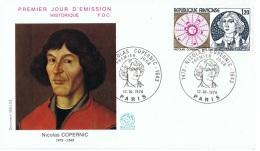 ASTRO-L12 - FRANCE FDC Nicolas Copernic - Astrology