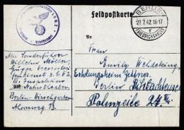 A4046) DR Feldpost Karte Von Berlin 20.7.42 Abs Heeresstreifendienst Z.b.V.2 - Briefe U. Dokumente