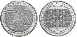 AC - KUNDEKARI - WOOD CARVING COMMEMORATIVE BRONZE COIN TURKEY 2013 UNCIRCULATED PROOF - Monnaies & Billets