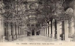 CPA PARIS - HOTEL DE VILLE - SALLE DES FETES - Unclassified