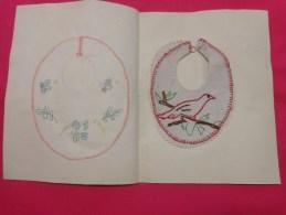 Bavette De Bebe Doublee--(petit Bavoir) -devoir De Dessin Et De Couture Dans Les Ecoles (oiseau) - Loisirs Créatifs