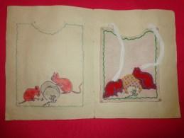 Bavette De Bebe Doublee-(petit Bavoir)- Devoir De Dessin Et De Couture Dans Les Ecoles (souris) - Loisirs Créatifs