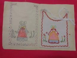 Bavette De Bebe Doublee-(petit Bavoir)- Devoir De Dessin Et De Couture Dans Les Ecoles (personnage) - Loisirs Créatifs