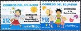 Ecuador - 2031/2032 - 60 Años Del UNICEF - *** - Briefmarken