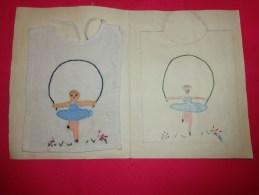 Bavette De Bebe Doublee-(petit Bavoir) -devoir De Dessin Et De Couture Dans Les Ecoles (personnage Qui Joue A La Corde) - Creative Hobbies