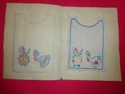 66bavette De Bebe Doublee-(petit Bavoir) -devoir De Dessin Et De Couture Dans Les Ecoles (fillette Dindon - Loisirs Créatifs
