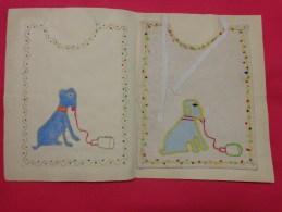 Bavette De Bebe Doublee-(petit Bavoir)- Devoir De Dessin Et De Couture Dans Les Ecoles (chien - Loisirs Créatifs