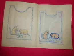 Bavette De Bebe Doublee-(petit Bavoir) -devoir De Dessin Et De Couture Dans Les Ecoles (souris - Non Classés