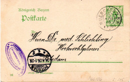 "Bayern Amtl.Ganzs.-Postkarte ""Königreich Bayern"" P 66/04  5Pf. Grün, Gel. 13.Apr.06 MUENCHEN Nach POTSDAM - Bavière"