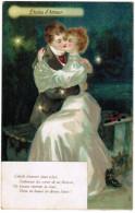 Carte Gaufrée, Reliëf, Couple In Love, Couple D'amoureux, Etoiles D'Amour (pk30381) - Marriages
