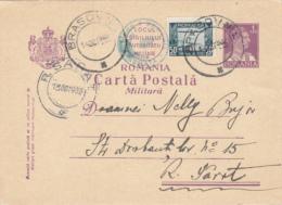 KING CHARLES II, AVIATION STAMP, MILITARY PC STATIONERY, ENTIER POSTAL,1932, ROMANIA - Cartas