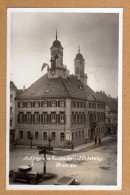 Original Postkarte Aus Tuttlingen Mit Hakenkreuzfahnen Am Rathaus 1933 Super Straßen Ansicht - Tuttlingen
