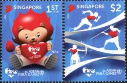 SINGAPOUR 8ann.Sports Asean (para) 2v 2015 Neuf ** MNH - Singapour (1959-...)