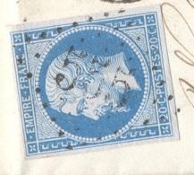 ALLIER 03 BOURBON L'ARCHAMBAULT  LAC Tad 15 11/02/1863 N° 14 GC 555 SUP (le GC Peu Courant Sur N°14) - Postmark Collection (Covers)