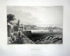 ITALIE ITALIA  10 GRAVURES ANCIENNES 1850 GENES ROME MALTA MILAN VENISE PISE NAPLES PALERME FLORENCE - Timbres