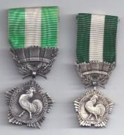 2  Médailles Des Collectivités Locales ( Petit Et Grand Modèle ) - Militaria
