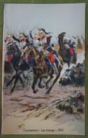 Cuirassiers - La Charge - 1914 - Belle Carte Aux Coloris Illustrée Par Maurice TOUSSAINT - Uniformes