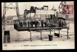 CPA ANCIENNE- ROUEN (76)- LA NACELLE DU PONT TRANSBORDEUR EN MARCHE- TRES BELLE ANIMATION GROS PLAN- ATTELAGES - Rouen