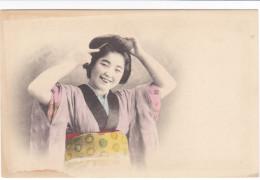 CPA JAPON GHEISHA ?  JAPONAISE COIFFE   ANIMATION - Japon