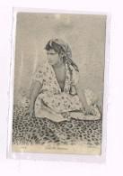 Femme Fille Mauresque 1906 + Stamp - Algérie